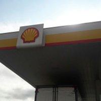 Testeira e logotipo Shell