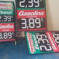 Quadro metálico pra divulgação de preço de produtos