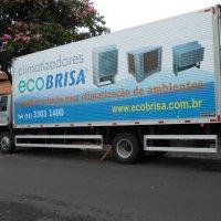 Adesivação Caminhão Baú Corrugado